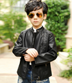2016 wholease baby boys PU genuine leather winter jacket