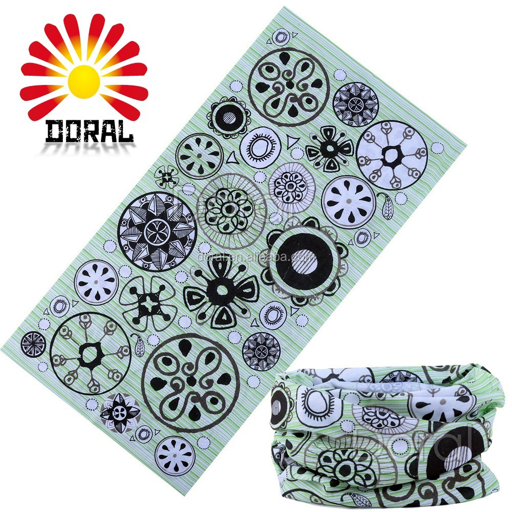 Flower Bandana Fashionable Promotional Gift Biking Team Custom Tubular Bandana