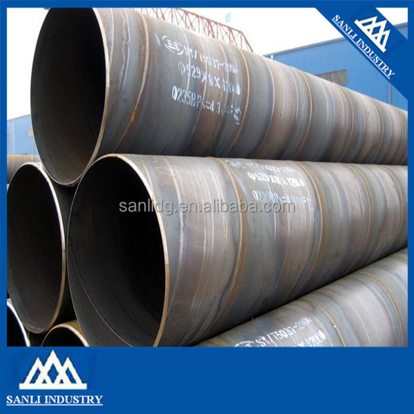 SSAW Spiral Welded Steel Pipe for Liquid Service