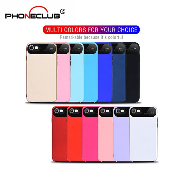 Silicone Soft TPU+PC Protective Phone Case For iPhone 8