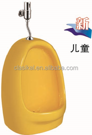 Mini size yellow color wall mounted urinal