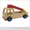 Handmade Wooden Trailer Truck Toy for Kids Playing