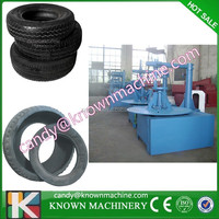 waste tire/tyre circle cutting machine for recycling waste tire