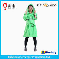 Maiyu ladies plastic reflective strip rain coat