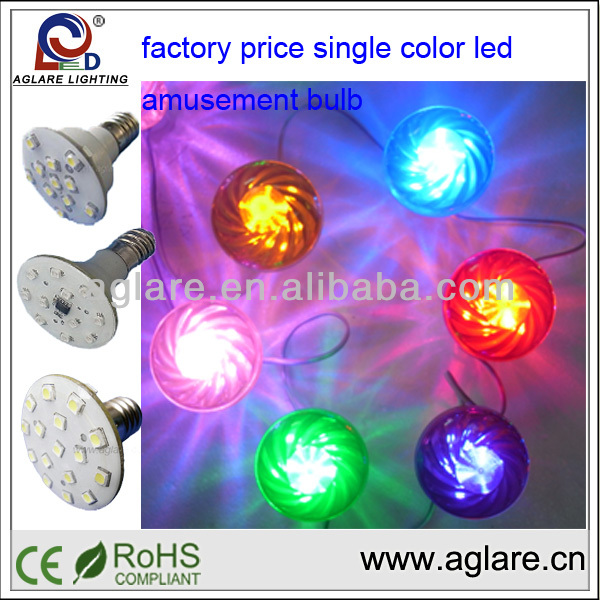 Long lasting e14 led cabochon bulbs for kiddies rides