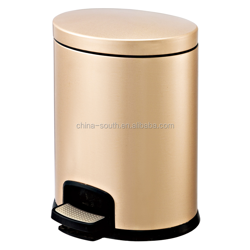 factory price stainless steel foot pedal dustbin indoor pedal garbage