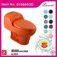 Natural Color ceramic one piece combustion toilet