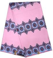 pink color latest designs 100% cotton african textile for clothes in high quanlity