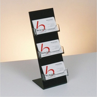 Factory custom cheap black acrylic business card holder