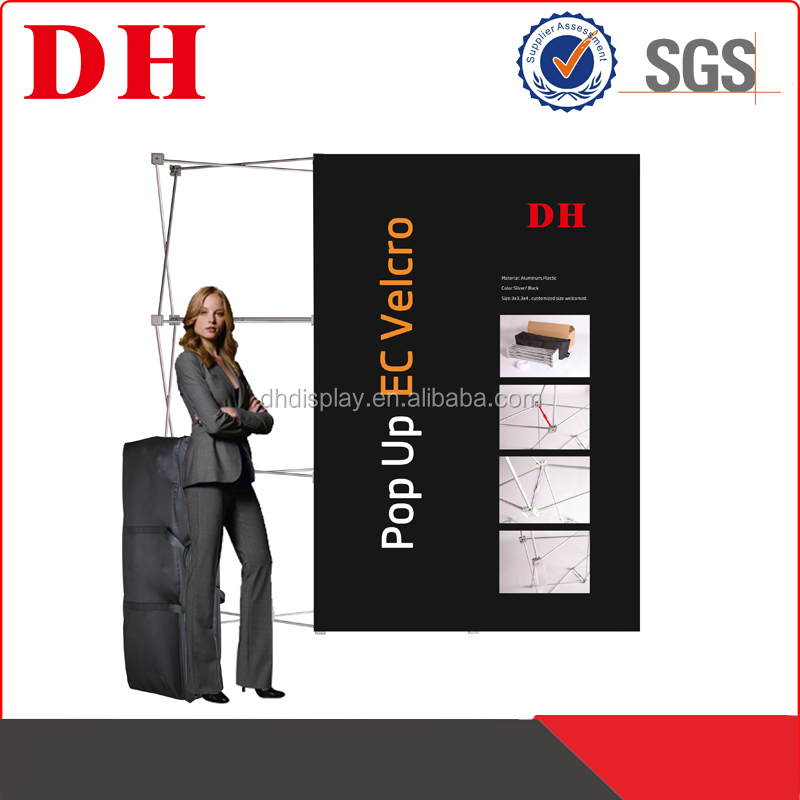 velcro pop up socket banner display stand outlet