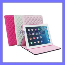Soft Butterfly Badge Lady Hand Bag PU Leather Stitch Case For iPad