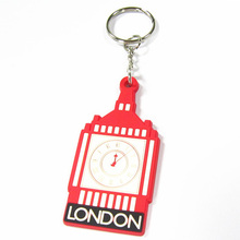 2013 New style clock design cheap custom made keychains