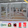 Multi-panel design plastic/pvc/upvc glass folding door open outside
