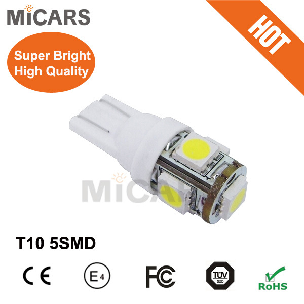 car accessories motorcycle car led light bulb lamp T10 5smd