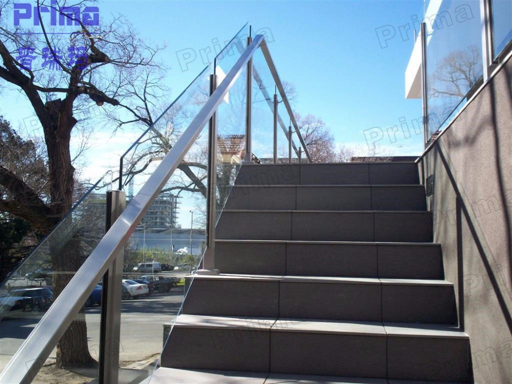 Handrails for outdoor steps terrace railing stainless for Terrace stairs