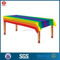 Printed Table Cover & Waterproof Table Runner & Party Decoration Plastic Tablecloth