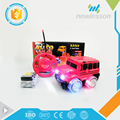 hot selling 2017 popular mini cute 2 channels transparent wheels rc bus for kids