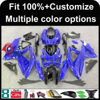 INJECTION MOLDING panels K8 ABS Fairing For Suzuki GSXR600 GSXR750 2008 2009 2010 Kit Fit blue black fairing kit GSX R750 2008 2