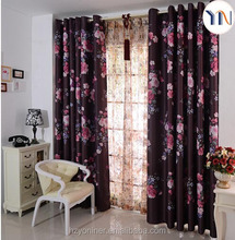 hotel blackout curtain floral printed curtain ready curtain flame retardant print fabric