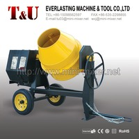 300L electric/gasoline/diesel concrete mixer with cast iron gear ring