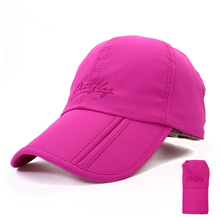 quick dry foldable folding blank baseball sports caps