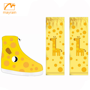 2017 Rain Waterproof Shoe Covers Shoe Wear Printing Child Rain Shoe Covers