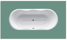 sy-2018 new design acrylic bathtub with handrail, fiberglass bathtub for soaking in bathroom