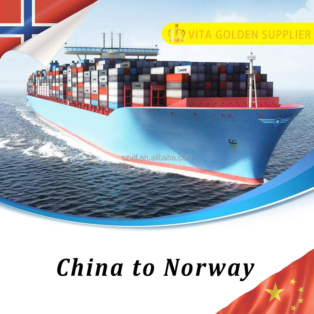 International container sea transport freight service from shenzhen china to Oslo Norway Europe
