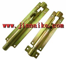 side latch for swing doors L bar latch yellow zinc galvanized
