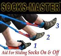 New Patented 2016 Aiding Tool Helps Put Socks On/Off with Shoehorn-Quality Adjustable - Great Gift For Elderly