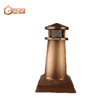 Copper chimney for copper gutters and home decoration