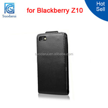 Leather Flip Case Cover for Blackberry Z10 Mix color Factory price