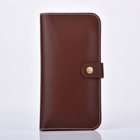 multifunction genuine leather wallet mobile phone case for iphone 5 / 6 / 7