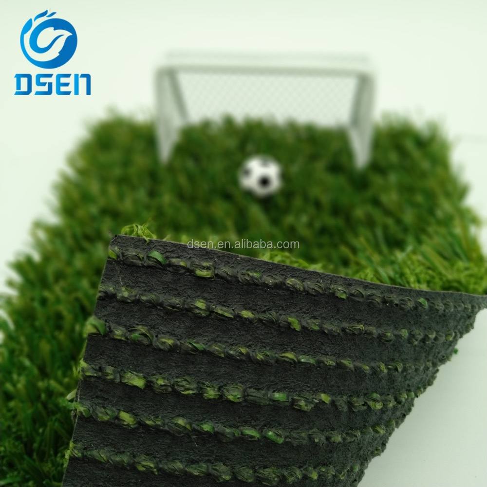 non filling fibrillated thatch KDK synthetic turf ball artificial grass for soccer fields