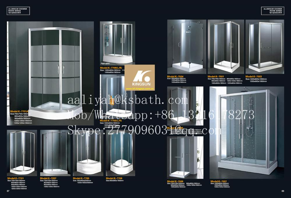 K-7206 Sanitary Ware Spare Parts 2 Sides Sliding Doors Shower Enclosure In Dubai