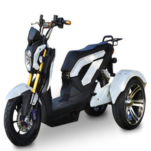 1000W 1500W 60V 20A 72V 20A Three Wheels Wide Tire Recharge Mileage 45Km or 65Km Electric Motorcycle for Adult