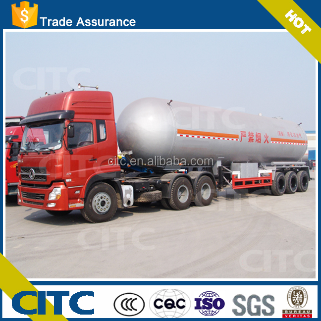 China lpg transport tank pressure vessel / lpg tank semi trailer for Qatar/Qatar LPG