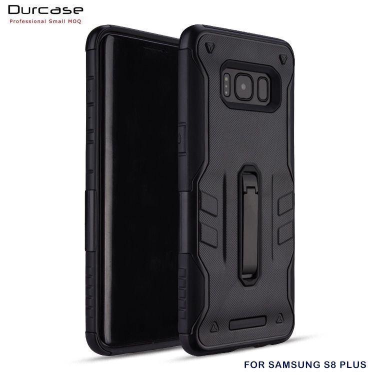 Strong Protective Tough Armor With Stand TPU+PC+Metal Mobile Phone Case Cover For Samsung Galaxy S8 Plus