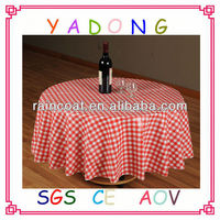 Modern printed plastic pool tablecloth