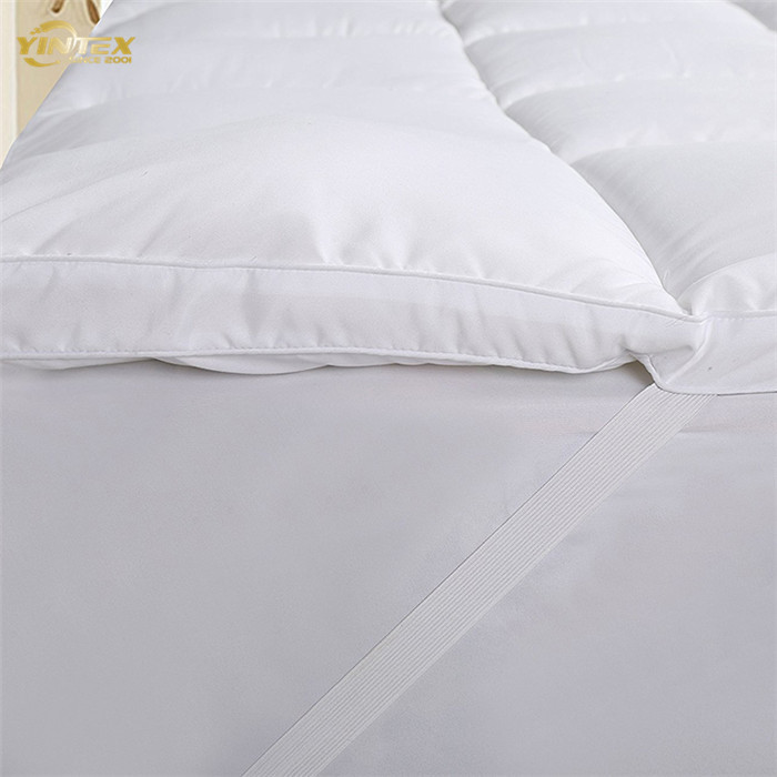 Hot Selling Health White Soft Breathable Duck Down Feather Filling Bed Mattress Topper For Hotel - Jozy Mattress | Jozy.net