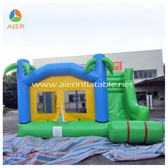 Children's Playground Castle Balloon Slide and Bouncer/inflatable castle with slide