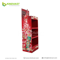 Christmas days pop cardboard display stand for chips
