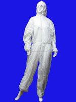 white /blue non woven disposable waterproof coverall work wear