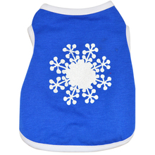 2018 Wholesale Summer Snow Pattern Pet Tshirt Dog Clothes