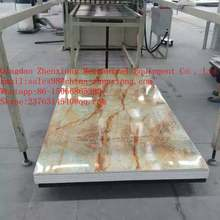 Plastic PVC imitation marble plate production line/artificial marble sheet production line