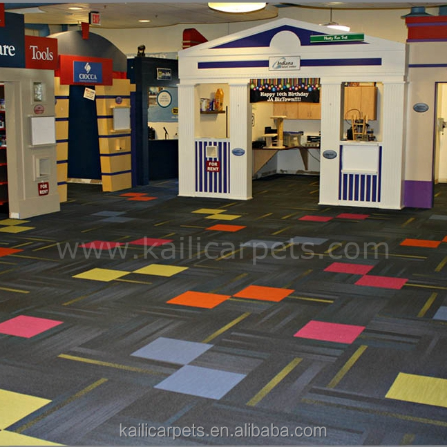 Waterproof Carpet Tiles, New Design Carpet Tiles with PVC Backing, Interlocking Carpet Tiles