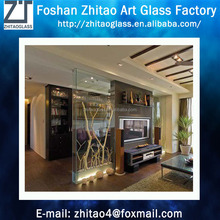 Fashion living room plant glass partition wall