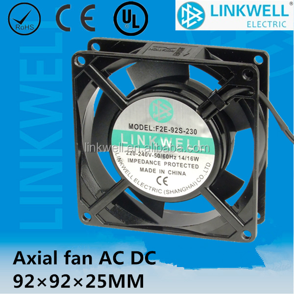 2017 China supplier AC DC 92*92*25mm Sleeve bearing Axial Fan with high quality