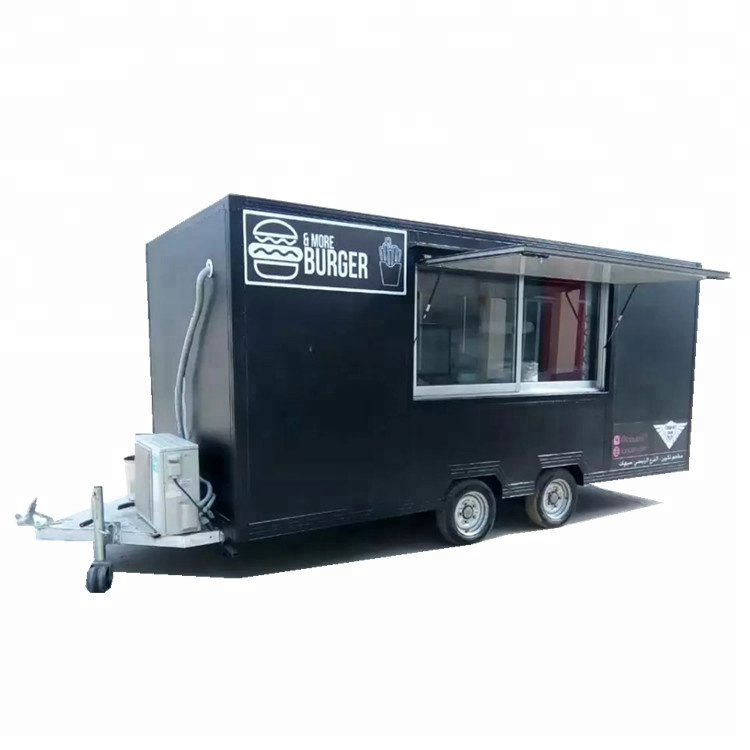 CE approved fast food truck trailer
