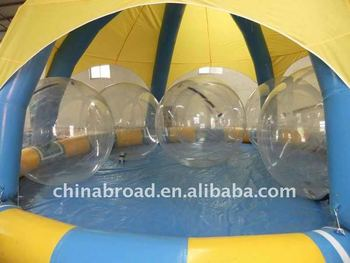2011 Hot-selling inflatable pool for water ball(YCD-002 8X8m)